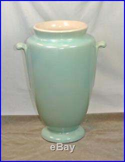 Vintage WELLER Art Pottery SENECA Large VASE Light Blue and Ivory Neiska