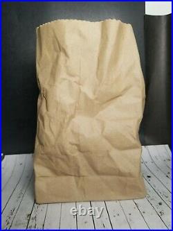 Vtg 1970s Ceramic Illusions Crinkled Paper Bag Vase Trompe L'oeil Pop Art 8 MCM