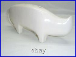 Vtg Art Pottery Cat Figure Mid century Atomic Danish Modern Decor Accent