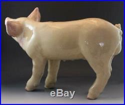 Vtg Art Pottery Life Size Piglet Pig Sculpture after Townsends Ceramic Studio
