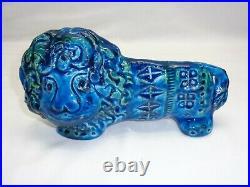 Vtg Bitossi Rimini Blue Lion Aldo Londi Design Art Pottery Mcm Raymor or Flavia