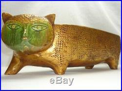 Vtg Mid century Atomic Danish Modern Cat California Art Pottery Sculpture