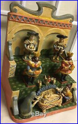 Vtg Olaria Alfacinha Estremoz Portugal Folk Art Pottery Ceramic Nativity Scene