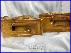 Vtg Royal Haeger Ceramic Leopard Panther Cheetah Figurine Art Deco Rare Amber