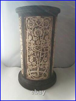 Weller Pottery Claywood Ped 90 PEDESTAL PLANT UMBRELLA STAND Rose Arts & Crafts