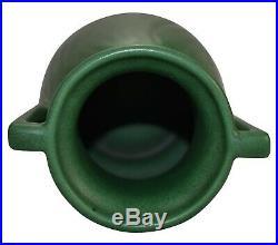 Weller Pottery Matte Green Arts and Crafts Handled Ceramic Vase