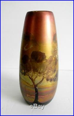 Weller art pottery vase Lasa design metallic finish