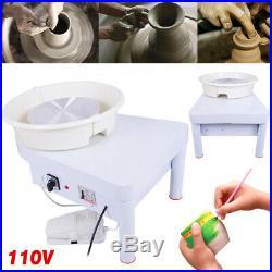 White 110V Electric Pottery Wheel Machine Ceramic Work Clay Art Craft DIY Tool