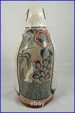X-Lg Vintage Rare Ceramic/Pottery Penguin Mexican Folk Art Collectible Tonala